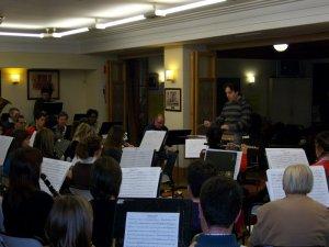 Francisco Valor Lloréns (Cocentaina,1979) assaig amb la Corporació Musical Primitiva d'Alcoi - Febrer 2010