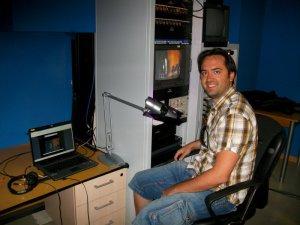 La emisión en directo por Internet, obra de los técnicos del Grupo AMS