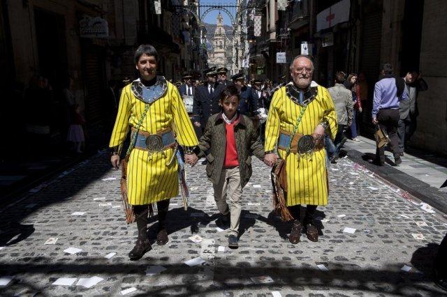 Pablo, Jaime i Paco Payà. Abencerrajes. Alcoy. Banda Primitiva. Foto: Kiko Payá