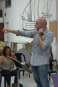 Jordi Miralles al front de la Banda de Calvià (14-9-2012)
