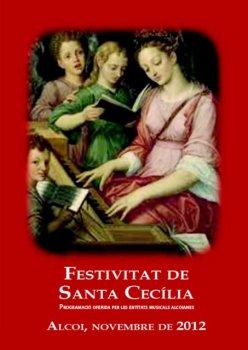 Alcoi 2012 Programa de la Festivitat de Santa-Cecilia