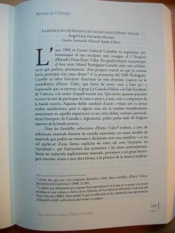 ITACA, de la Universitat d'Alacant publicava un article d'Àngel Lluís Ferrando sobre la música en les rondalles d'Enric Valor