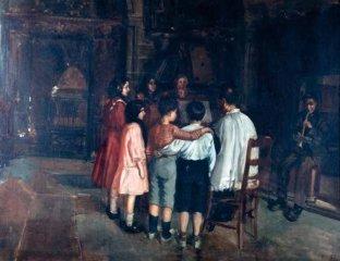 """""""Ensayando una Misa"""" de Lorenzo Pericás Ferrer (Alcoi, 1868 - Alacant, 1912)"""