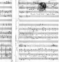 """Juan Cantó Francés (Alcoy, 1856 - Madrid, 1903) motete para la """"Procesión del Viernes Santo"""" (Madrid, 25-3-1879) Archivo de la Corporación Musical Primitiva de Alcoy"""