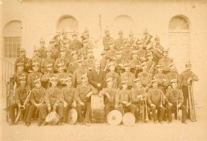 Banda Primitiva d'Alcoi en 1889. Rafael Pascual Pascual, directorual_sm
