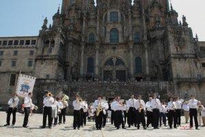 Banda Municipal de Ejea de los Caballeros en Santiago de Compostela, Julio 2013