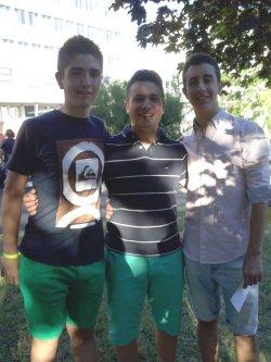 Marc Sirera, Arnau Botí i Javier Masia. Foto: M. Sirera