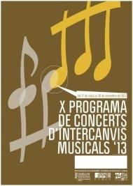 X Programa de intercanvis Musicals - FSMCV 2013