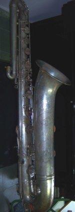 Saxofón bajo fabricado en Milán por Ramponi, adquirido por La Primitiva de Alcoi en 1929