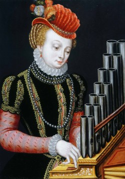 Santa Cecilia, de Ambrosius Benson (1495-1550), en la Weiss Gallery.