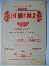 """Edició de """"¡Ché quin vals!"""" (Barcelona, 1932) de Eliseo Marti"""