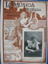 """Primer numero de """"La Música Ilustrada Hispano Americana"""" publicat el 25 de desembre de 1898. Donació de Laura Botella."""