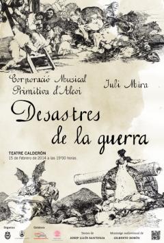 "2014-02-15 ""Desastres de la guerra"" Concert de la Banda Primitiva d'Alcoi (Cartell by Auxi Martínez)"