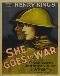 """Primer llargmetratge mut exhibit al teatre: """"Ella va a la guerra"""" (1929)"""