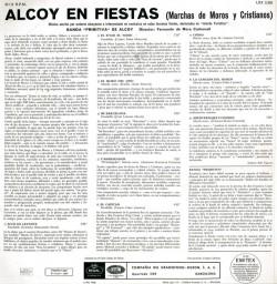 Contraportada LP original. Text: Adrián Espí Valdés