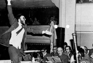 Gregorio Casasempere en un moment catàrtic del concert