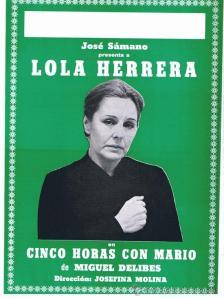 En 1984 Lola Herrera va sortir decebuda d'Alcoi, de veure com la seva representació es va saldar amb un fracàs en taquilla i de veure un teatre en estat ruïnós amb camerinos en penombra amb la visita inesperada d'alguna rata