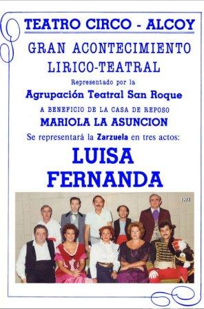 "Cartel ""Luisa Fernanda"" (1983)"