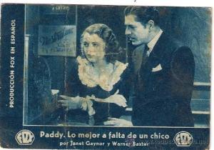 """Paddy, lo mejor a falta de un chico"", una de les primeres pel.lícules sonores projectades al teatre"