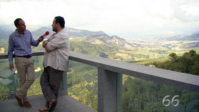 Evocador encuadre en un momento de la entrevista a Rafael Sempere(Foto: pagina66)