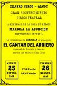 """Cartel """"El cantar del arriero"""" (1982)"""