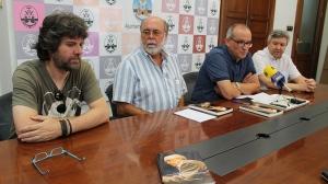 A.L.Ferrando,J.M.Soriano, P.Agulló i J.L.Santoja en l'acte de presentació