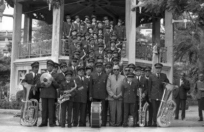 La Primitiva en 1973 con Mora Carbonell al frente (Foto: Carlos Coloma) (Archivo: Fototeca Municipal)