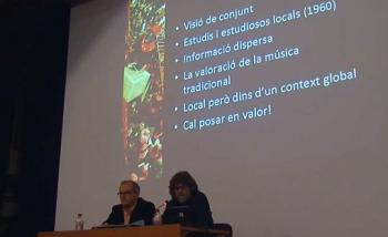 Moment de la conferència el passat 18 de desembre