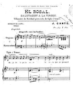 """El Rosal"" (1901) Detall partitura impresa a Madrid. Calcografía de Serapio Santamaria."