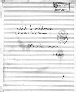 """Portada de """"Uzul El M'Selmin"""" (1914)"""