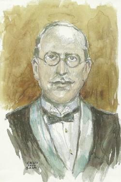 Camilo Pérez Monllor, en una ilustración de Emilio Payá