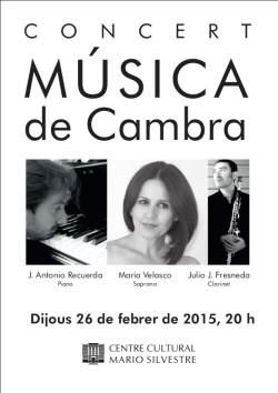 CONCIERTO - MARIA VELASCO - JULIO FRENEDA - JUAN A. RECUERDA