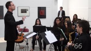 Julio García dirige el Conjunto Instrumental (Foto: pagina66)
