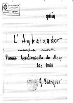"""Portada original de """"L'Ambaixador"""" (1959)"""