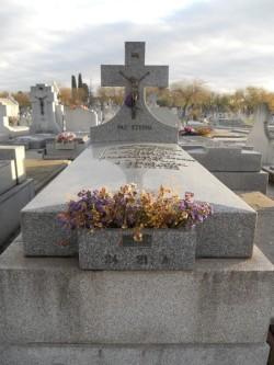 La tumba de Pérez Monllor en el madrileño cementerio de Nta. Sra. de La Almudena