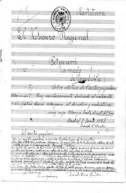 Portada del mític pasdoble amb la lletra d'Evaristo Pérez