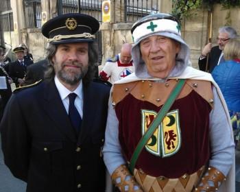 "Àngel Lluís Ferrando, director de La Primitiva i Adolfo Bernabeu Terol, el ""petit Adolfín Bernabeu"" (Foto: Pablo Martínez)"
