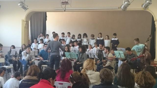 El Conjunto Instrumental de la escuela en el concierto efectuado el pasado 13 de Marzo en el Colegio salesiano Juan XXIII