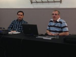 Robert Ferrer i Jaume Jordi Ferrando en un moment de la presentació