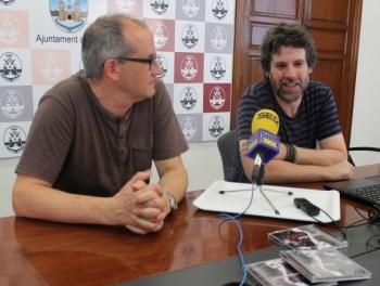 Paco Agulló i Àngel Lluís ferrando presentant el CD simfònic de l'obra de l'Ovidi