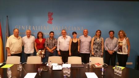 Miembros de la FSMCV se reúnen con el nuevo Conseller de Educación, Investigación, Cultura y Deporte, Vicent Marzá