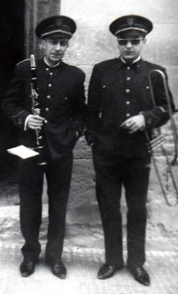 Rafael Serra, padre e hijo, en la Diana de 1968
