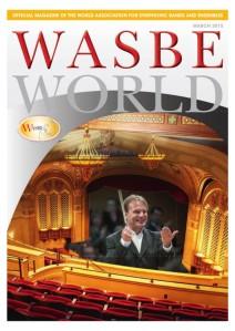 Portada de la revista Wasbe World del mes de marzo donde aparece el músico murero