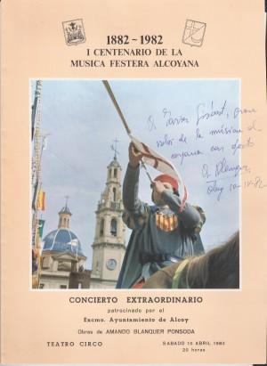 Programa del estreno con autógrafo de Blanquer (Cedido por Juan Javier Gisbert)