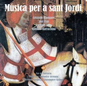 Portada de la grabación del CD con la Misa de Sant Jordi en 1996