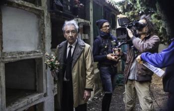 José Sacristán en un moment del rodatge