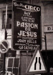 """Cartellera (Foto: Llibre """"Joan Valls, vida y obra de un poeta"""")"""