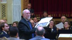 """José María Valls en la estrena de La casa de las chirimías"""", el passat 5 d'octubre de 2014"""