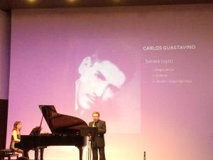 Eduard Terol i Silvia Gómez Maestro en un moment del concert del passat 22 de maig