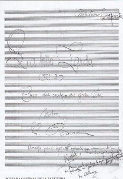 "Portada ""Coro del Cortejo del Gran Visir"" de ""La Bella Zaida"" (Archivo Societat Musical Nova)"